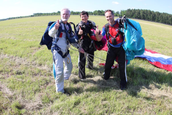 AFF Student Landing After Training Skydive