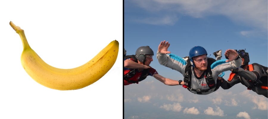 skydiving arch position