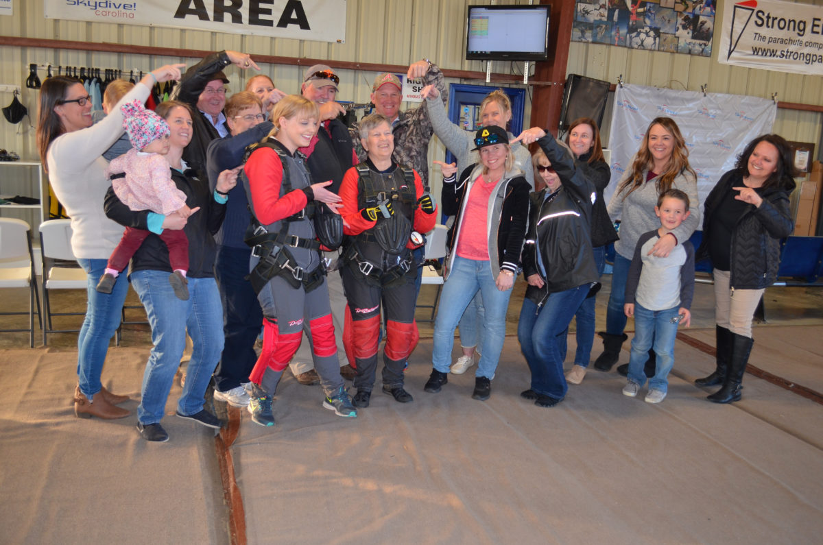 woman with cancer after skydive