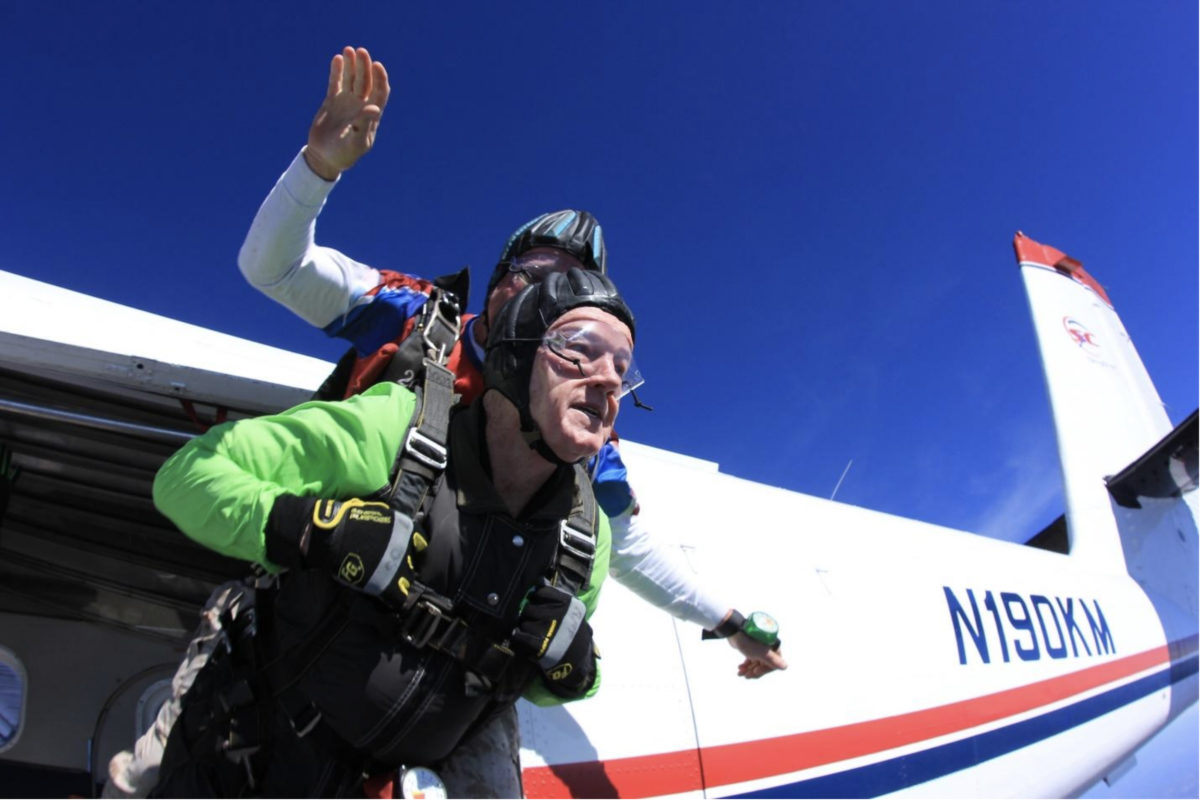 80 year old skydiving skydive carolina