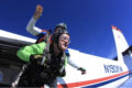 dentures fall out while skydiving