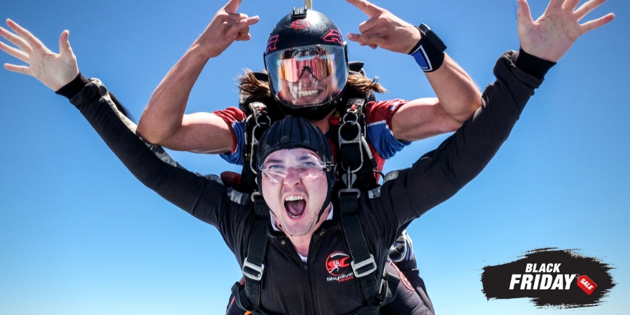 Tandem Skydiving at Skydive Carolina - promo for Black Friday Sale