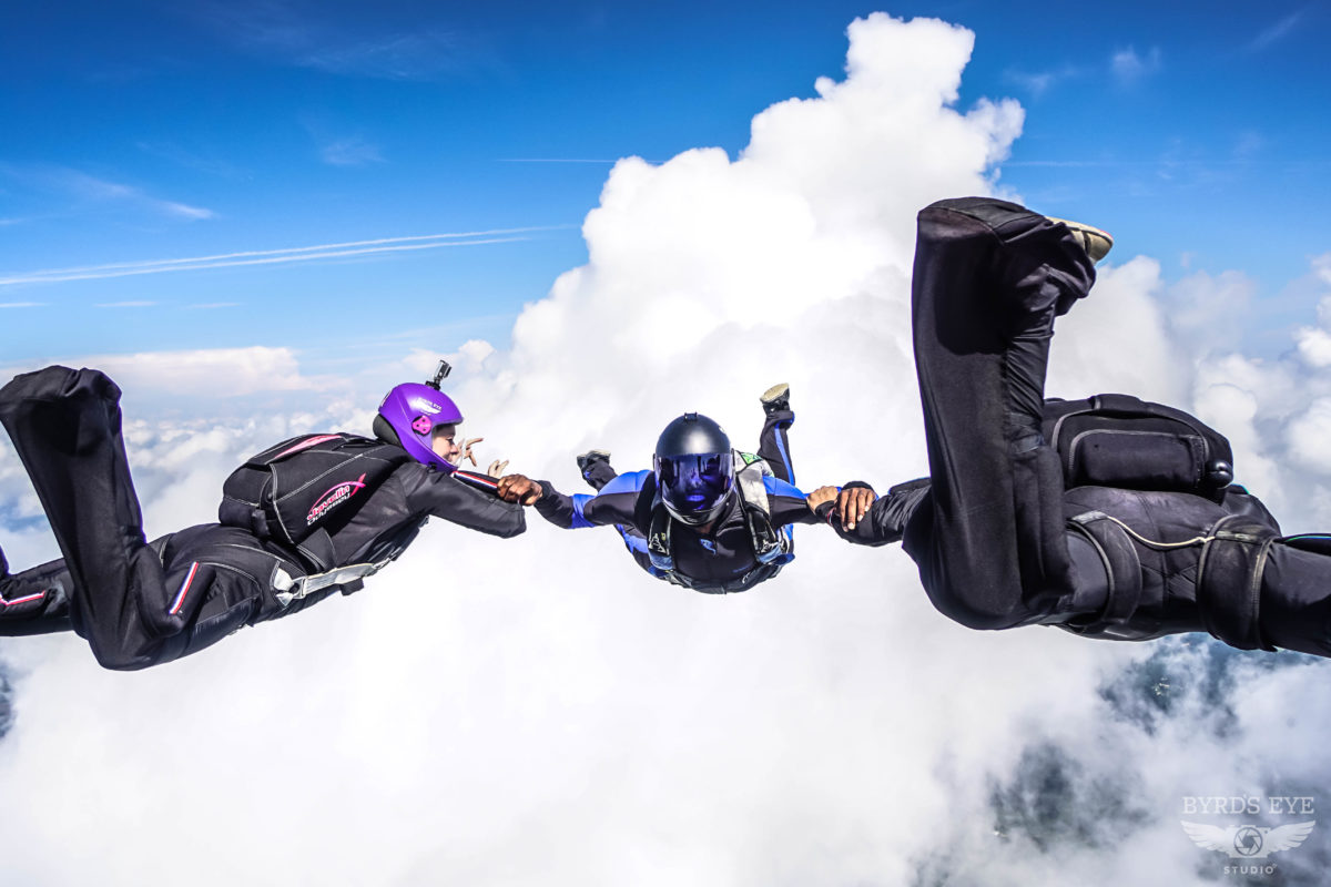 a license skydivers
