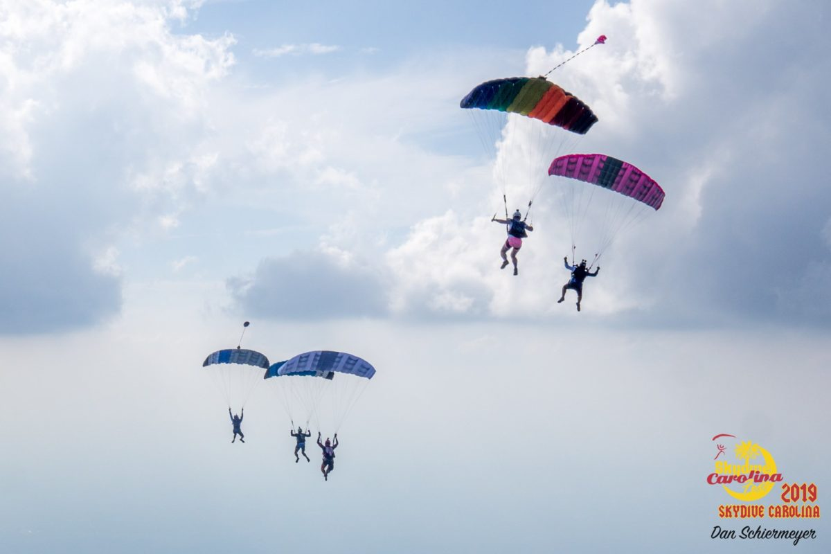 skydivers flying parachutes can you listen to music