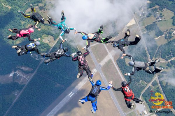 skydiving formation improve your life