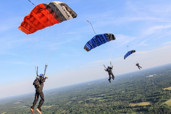 parachute landings ram air parachute