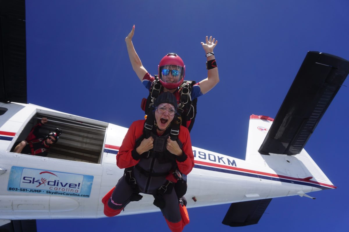 is it hard to breathe when skydiving