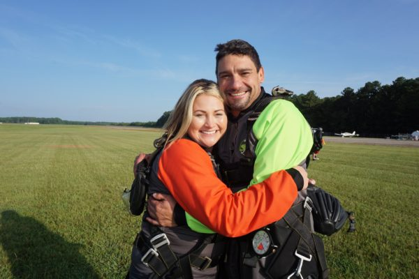 skydiving wedding