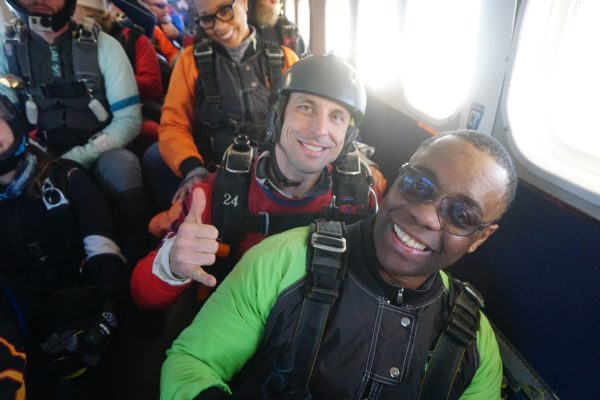 how to live in the moment skydiving