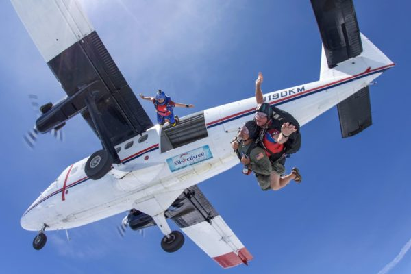 goals for new year 2020 tandem skydiving