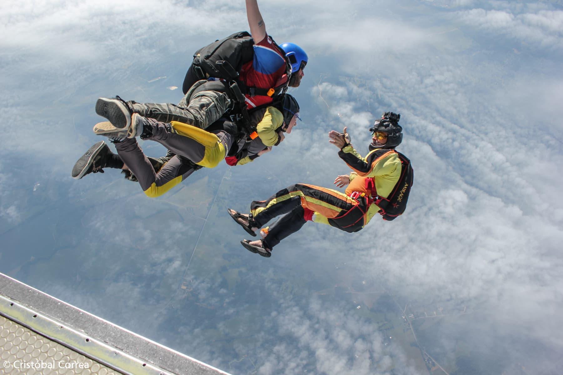 tandem skydiving video at skydive carolina