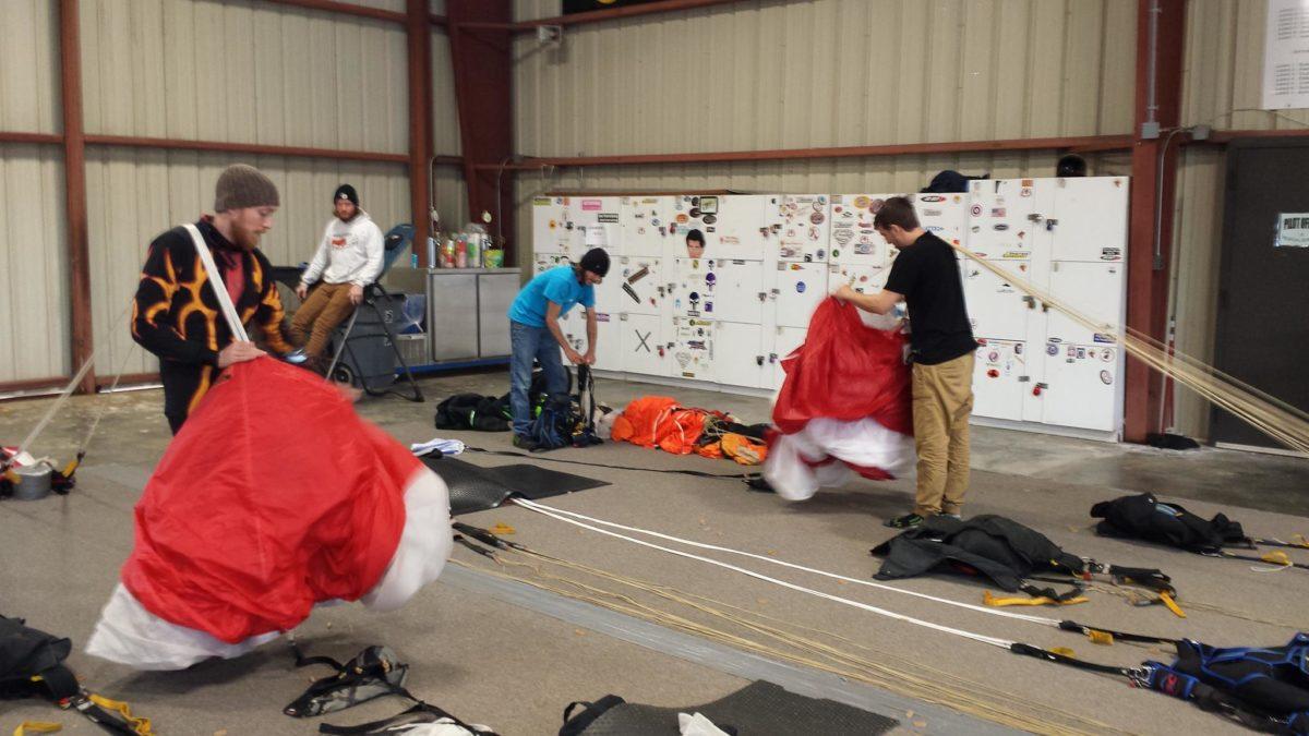 Parachute packers at Skydive Carolina