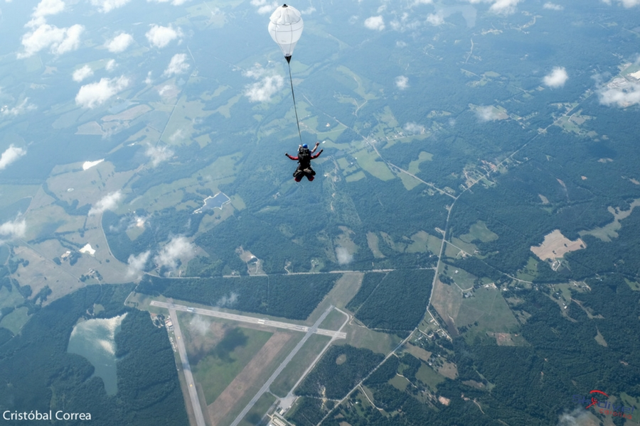 Tandem Skydiving from 14,000 feet above Skydive Carolina!