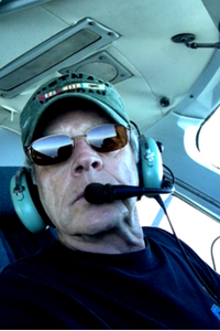 Rudy Ribbeck in the cockpit