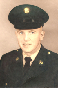 Rudy's headshot at basic training in 1965