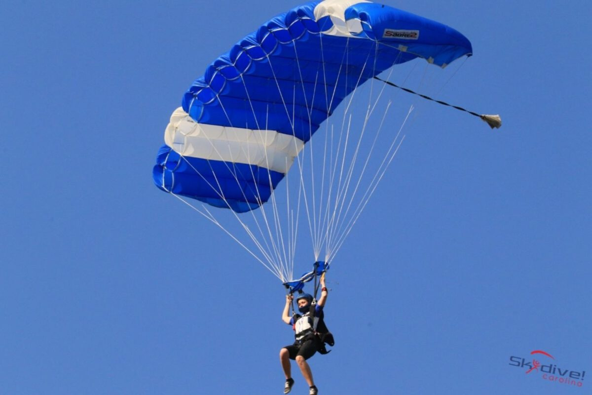 how do skydivers know where to land