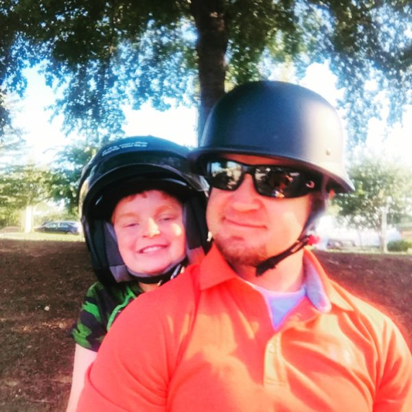 father and son motorcycle paralyzed