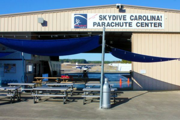 Skydive Carolina's main hangar