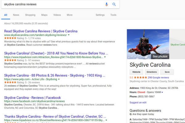 skydive carolina reviews