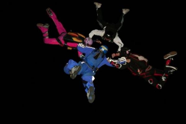 skydiving at night bucket list