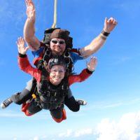 skydiving in summer