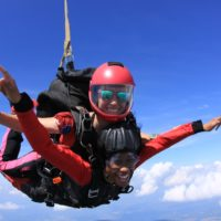 skydiving in spring
