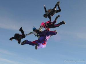 group skydive at Skydive Carolina
